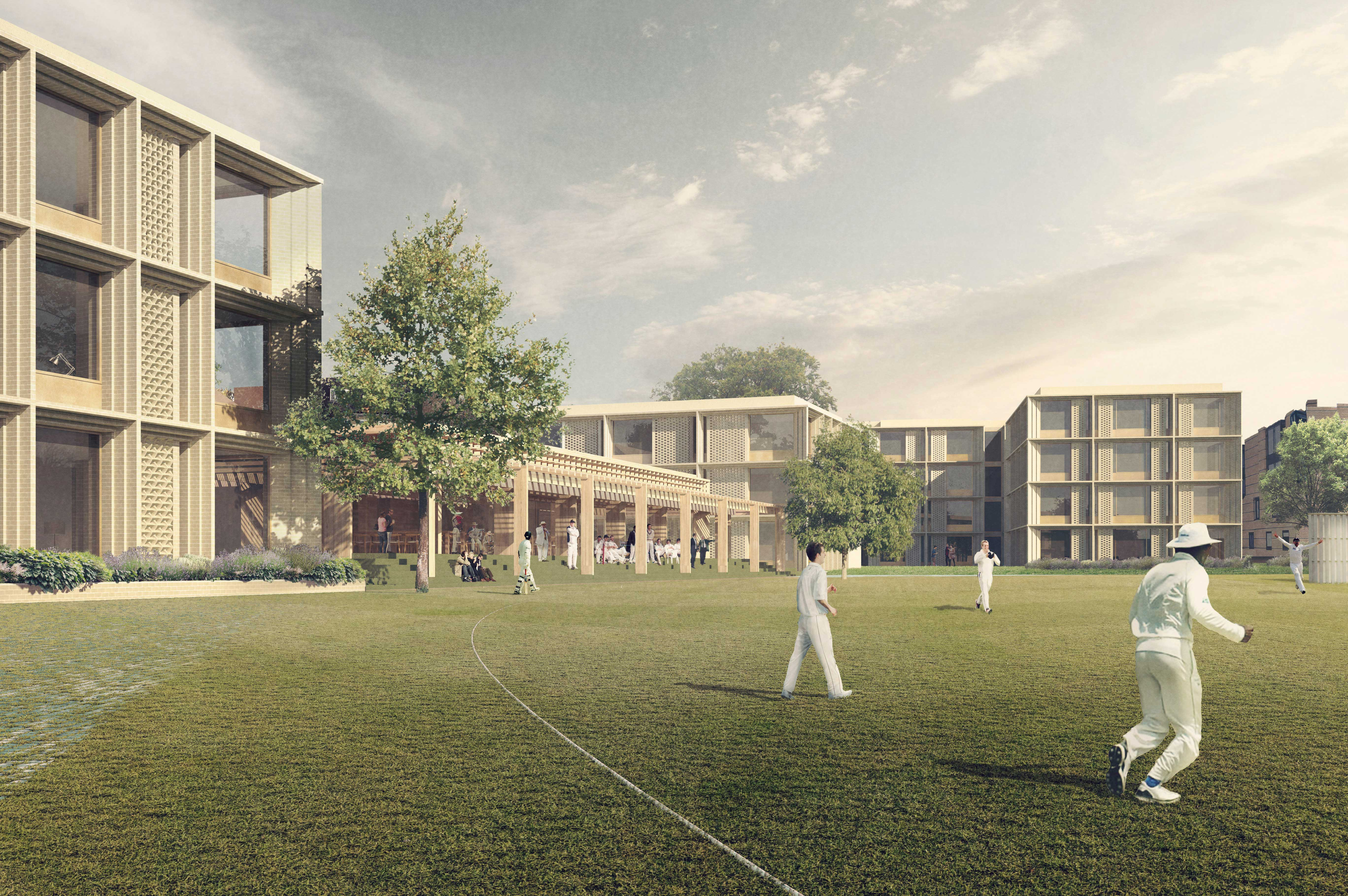Artist impression of Masters Field Project development (image courtesy of Niall McLaughlin Architects Ltd)