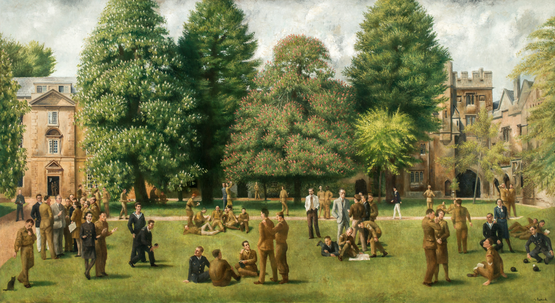 The Garden Quad in Wartime by Richard Eurich, c. 1945 (photo: Paul Carter)