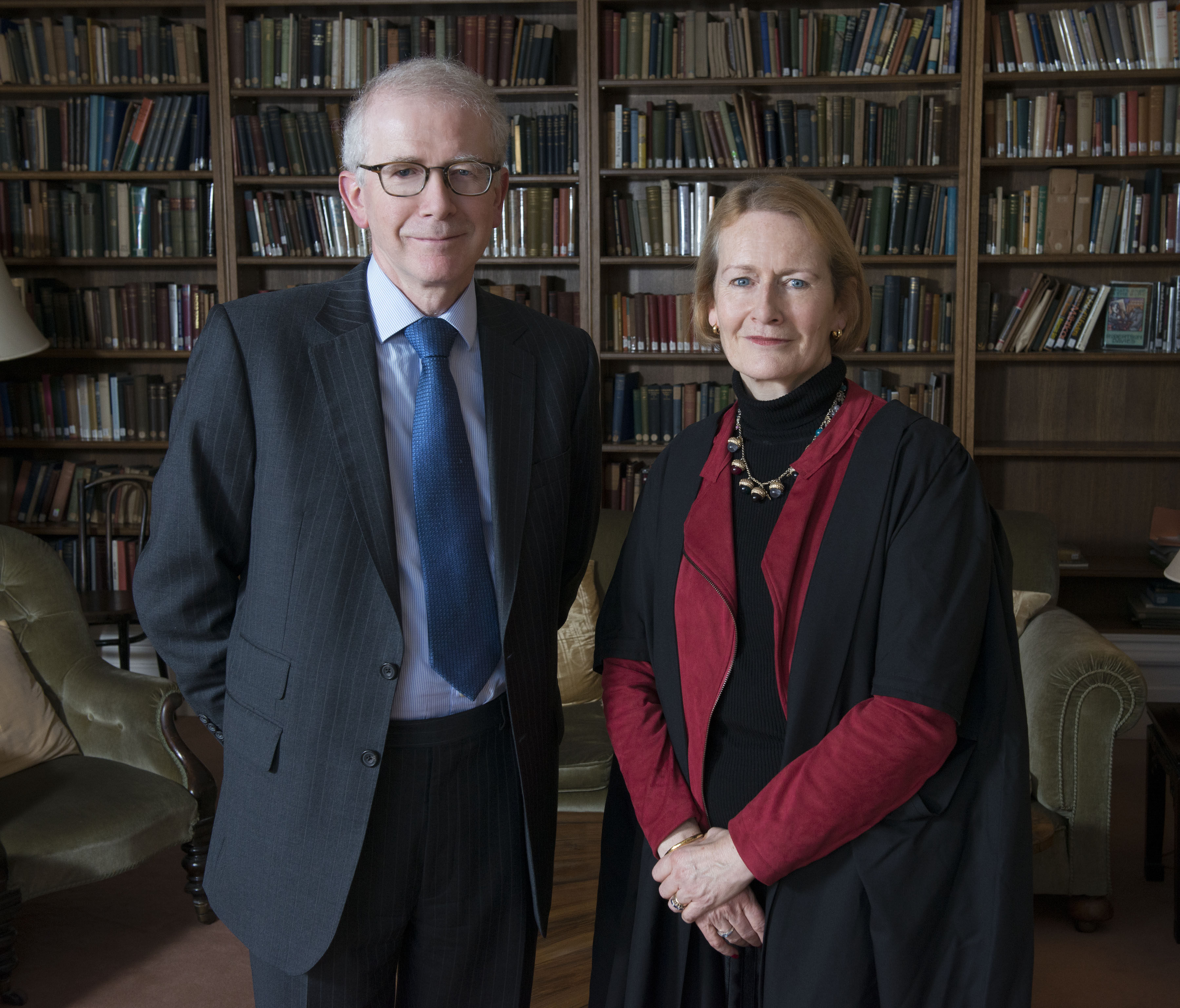 Dame Helen Ghosh (Master elect) and Lord Robert Reed (Visitor) (photo: Rob Judges)