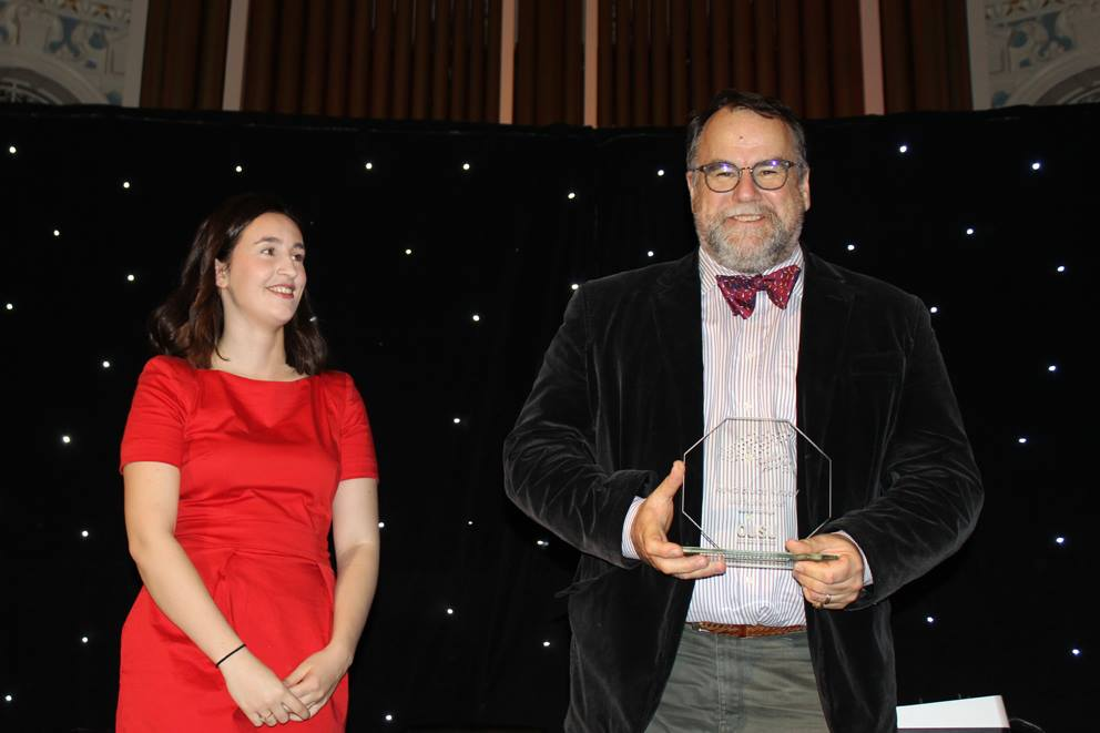 Bruce Kinsey with his OUSU Teaching Award 2016