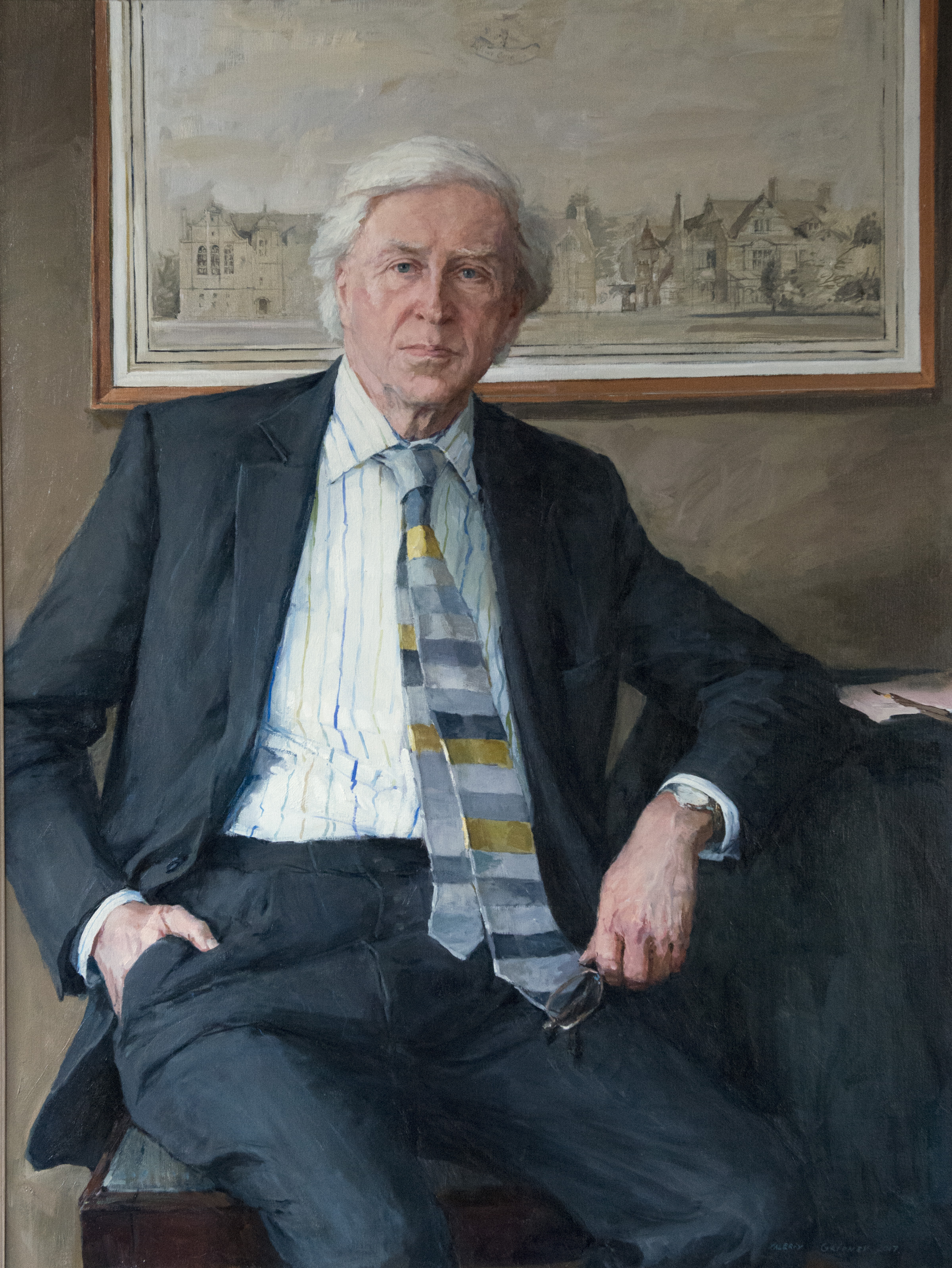 Portrait of Professor Sir Drummond Bone (Master of Balliol) by Valeriy Gridnev (photo: Rob Judges)