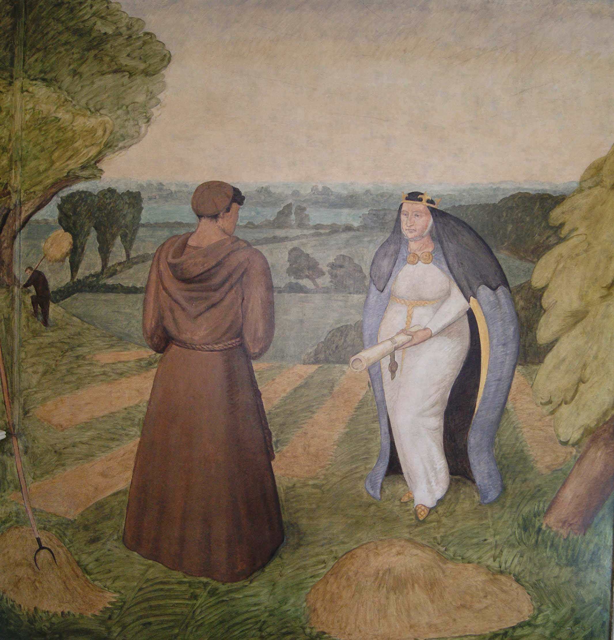 Balliol College mural by C. Fremantle (photo: IFACS)