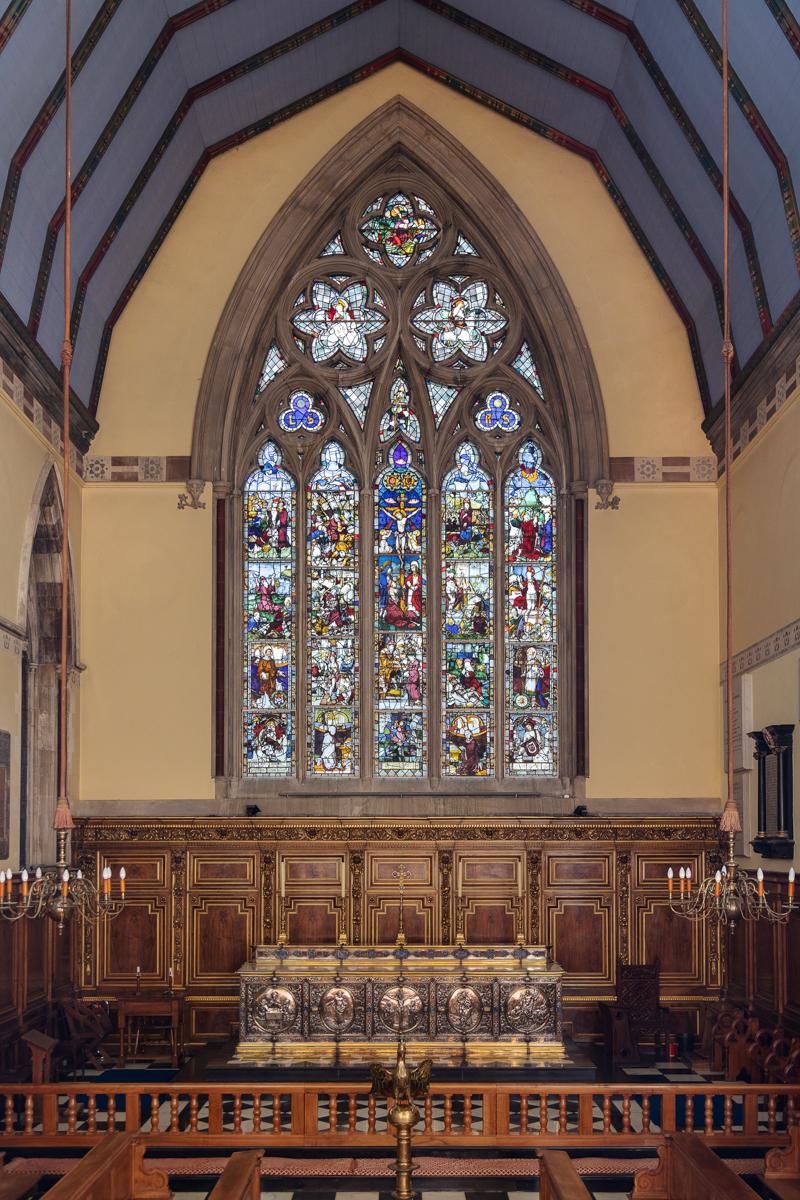 Balliol College Chapel, east window, 16 April 2019 (photo: Ian Taylor)