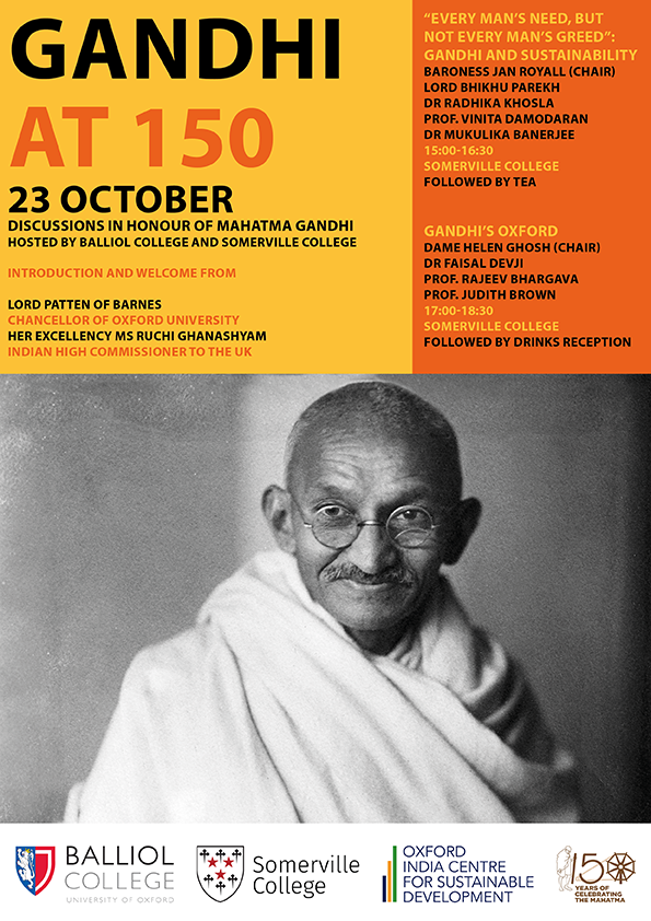Gandhi at 150 poster