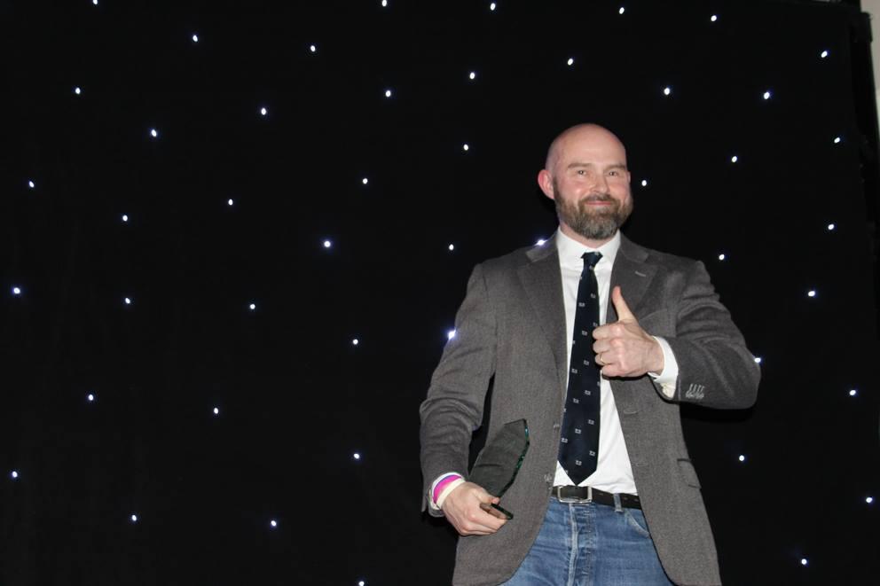 Adrian Kelly receiving OUSU Teaching Award 2016