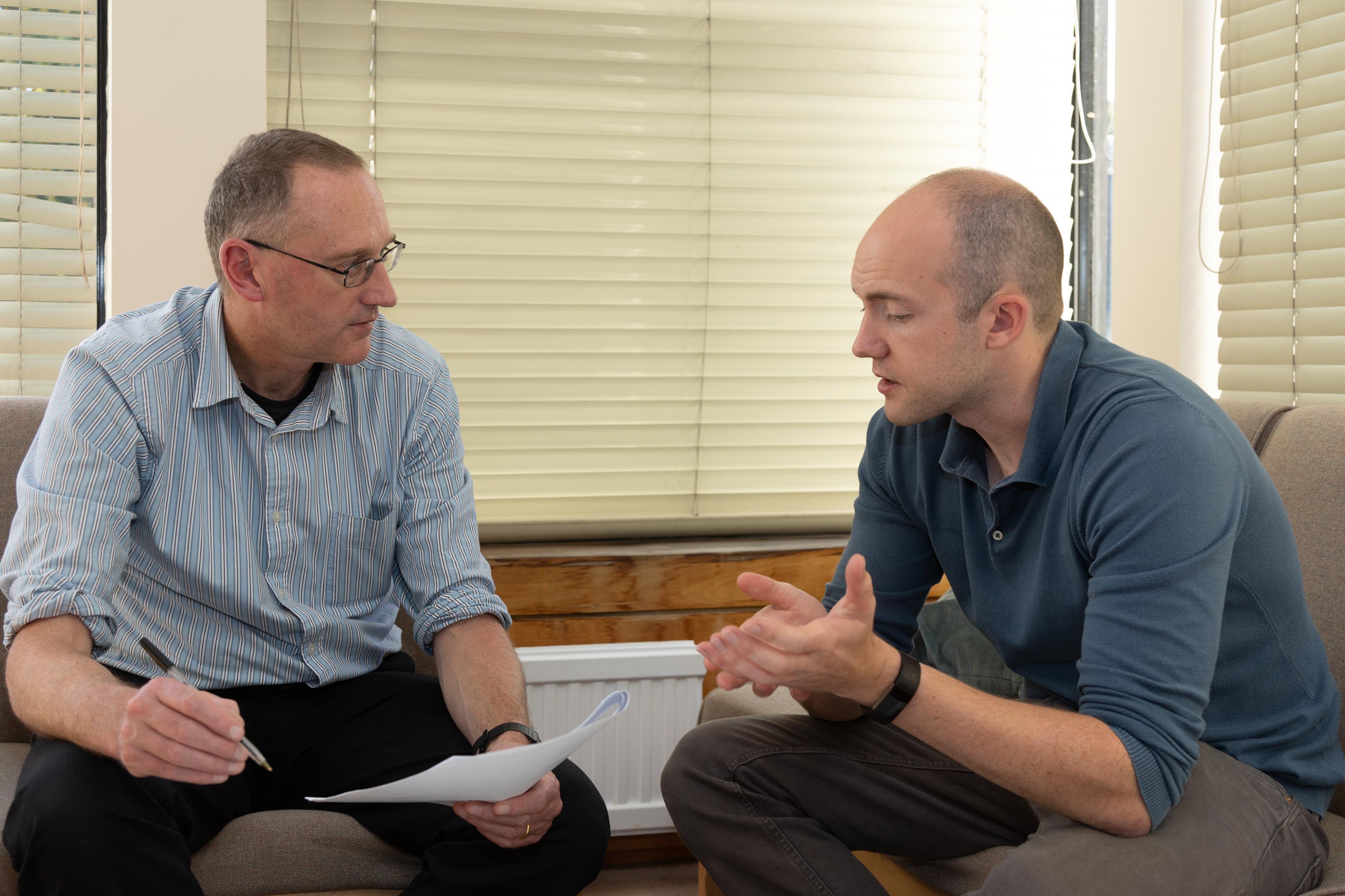 Balliol tutor (left) and secondary school teacher (photo: Keith Barnes)