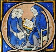 An historiated initial from MS 253 folio 80 verso