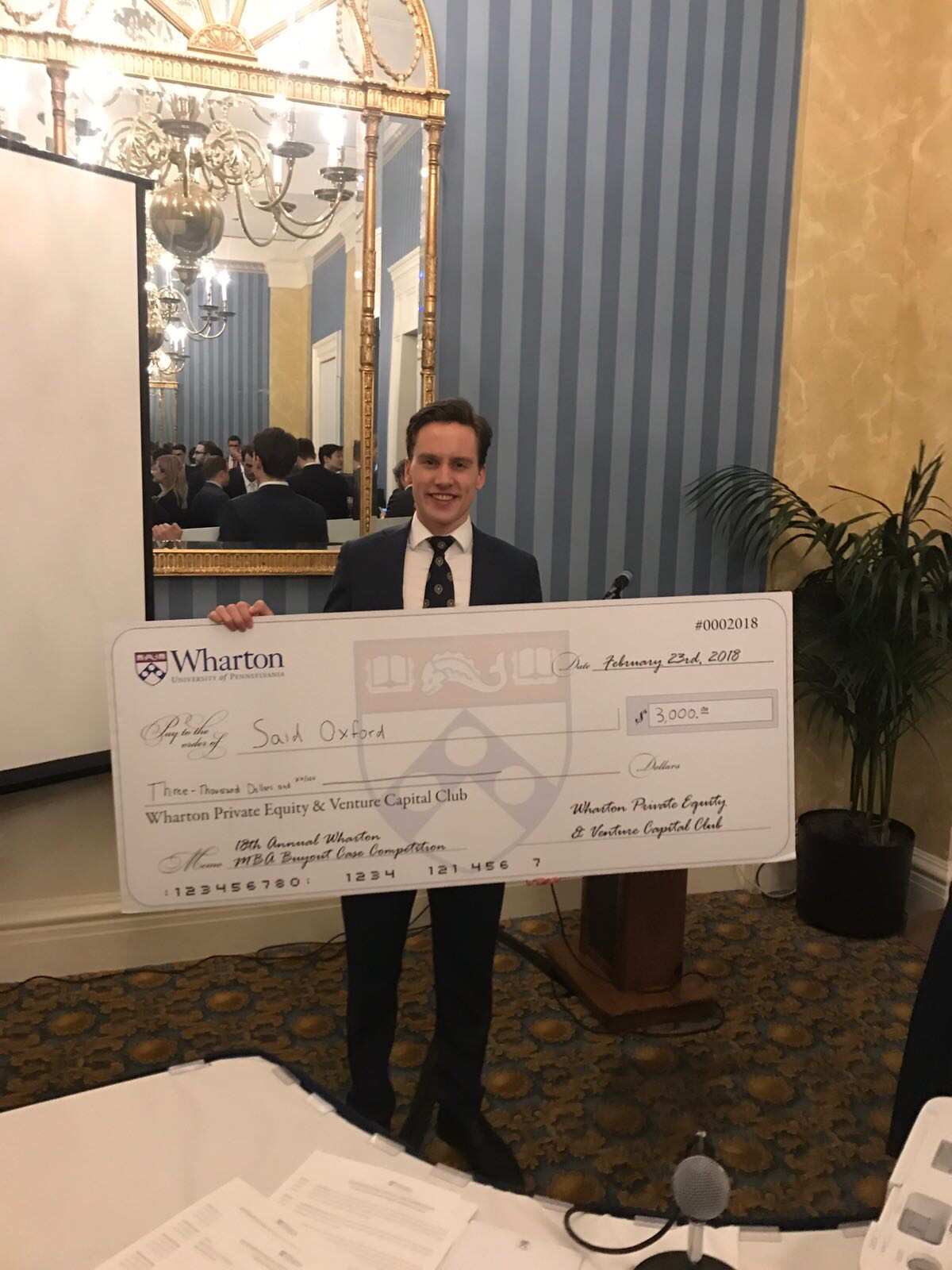 Anders Smedsrud at the 18th Annual Wharton MBA Private Equity Buyout Case Competition