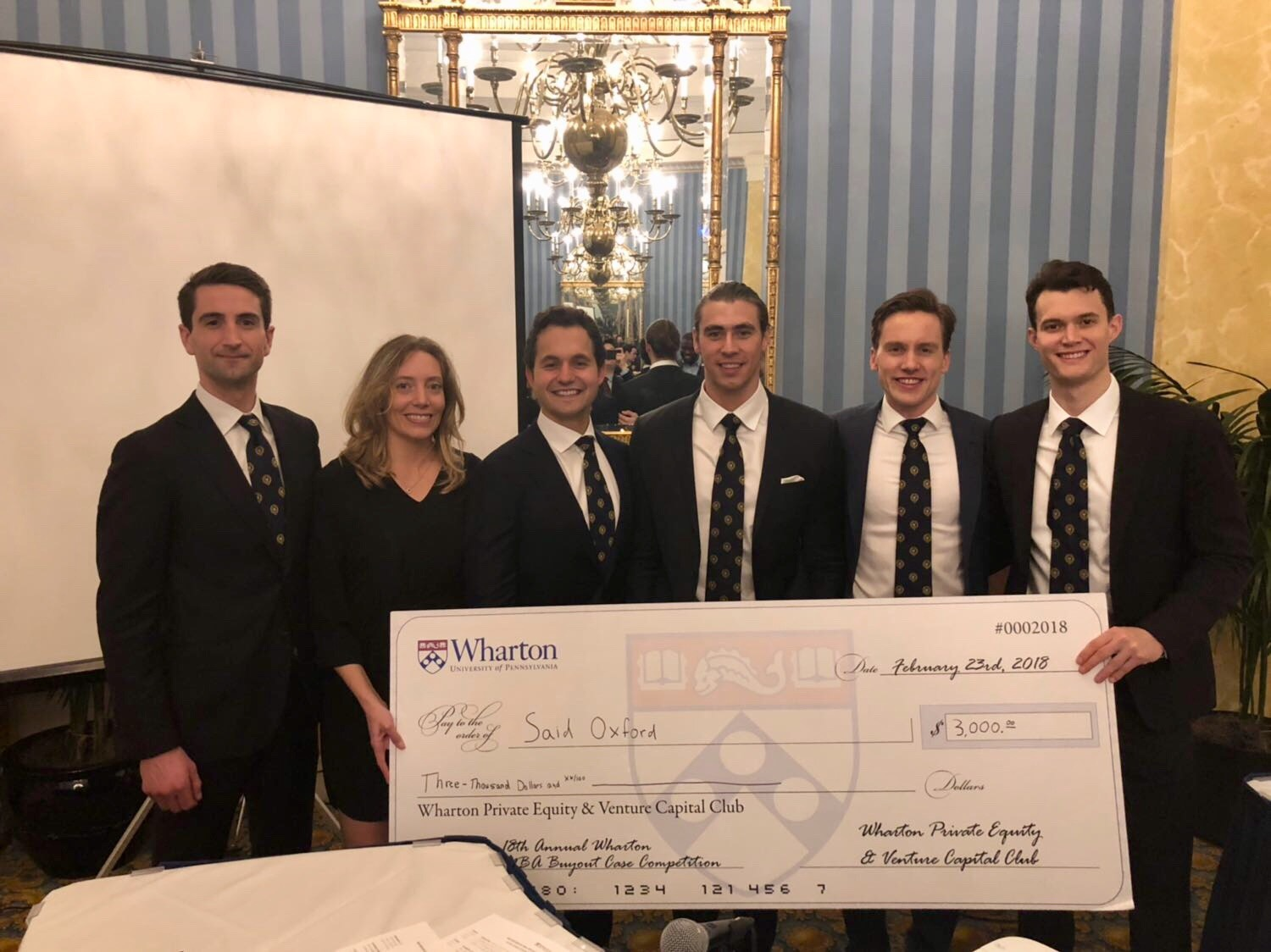 The Oxford team, winners of the 18th Annual Wharton MBA Private Equity Buyout Case Competition